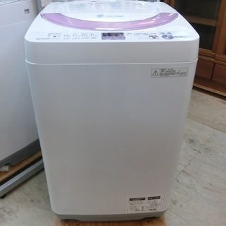 SHARP 6.0㎏ 穴無ステンレス槽 全自動洗濯機 2013年...