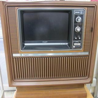 レトロ風 SHARP液晶テレビ