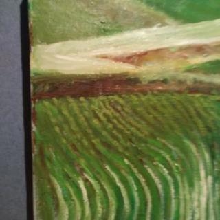 北巨摩の水田の油絵