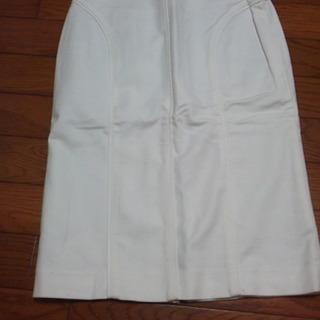 ★コーディネートしやすい白★ホワイト タイトスカート 保管品 数...