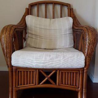 アームチェア 椅子 イス 一人掛けソファー 籐