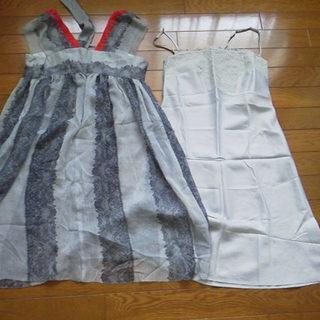 値下げ❗️ワンピース ドレス  M 38号 ALUMINA グラ...