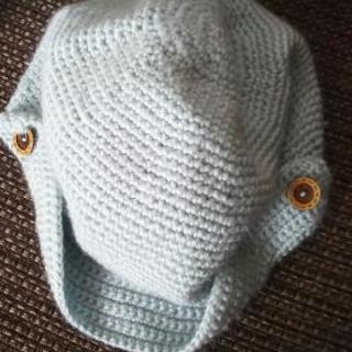 ⑮水色の帽子
