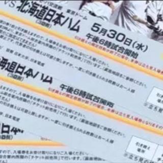 5月30日 4枚‼️東京ドーム 巨人VS北海道日本ハム 指定席D