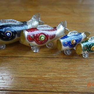 硝子 鯉の置物 端午の節句