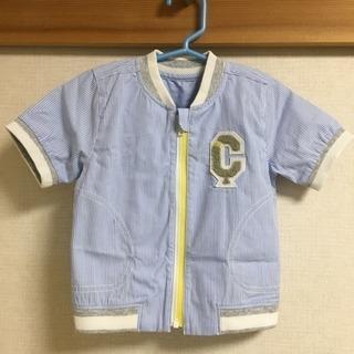 新品♡コムサイズム ピンストライプシャツブルゾン 80サイズ