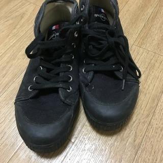 24 スニーカー ブラック