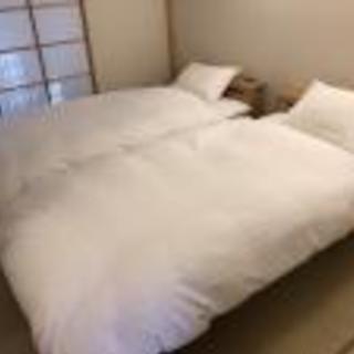 宿泊施設のリネン類レンタルいたします。
