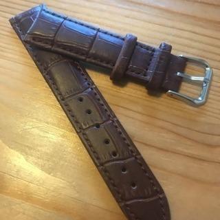 men's腕時計 牛革型押しベルト(20㎜)