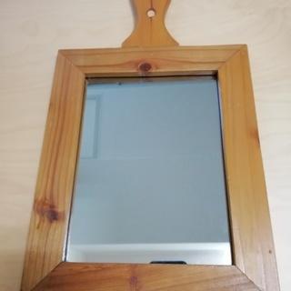 カントリー調壁掛け鏡(ミラー)