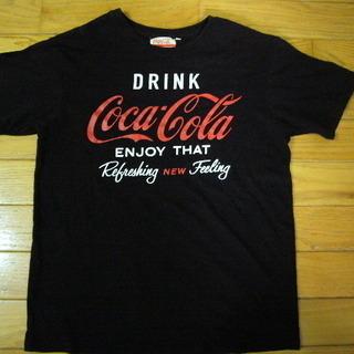 Mサイズ・渡来人限定!夏だ!中古・コカコーラTシャツ!(黒)