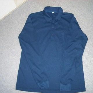 ポリエステル濃紺ポロシャツ 紳士用サイズM 長袖、半袖セットで。