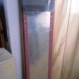 新品 全身ミラー 150×30cm RED 姿見 鏡 ウォールミ...