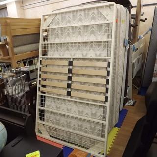 良品計画 無印良品 脚付きマットレスベッド(フレームのみ) セミダブル 札幌 西岡発の画像