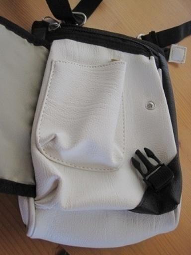 39c56f27b0 小ぶりなショルダーバッグホワイト/ブラック (うっちぃ) 鶴見のバッグ ...