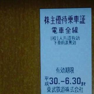 東武鉄道 乗車券 株主優待 3枚まで可 1枚730円