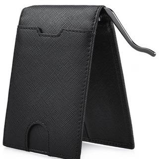 新品未使用‼️ マネークリップ メンズ 財布 二つ折り 本革 ビ...
