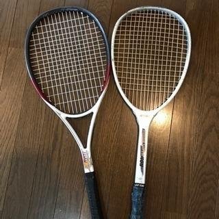 軟式  テニスラケット2本