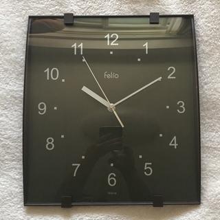 (取引終了)掛け時計  felio コゲ茶