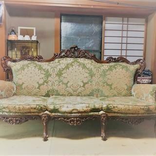 イタリア製ビンテージソファー(3人掛け、1人掛×2本のセット)