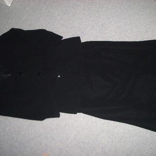 ブラックフォーマルソフトスーツ ★サイズ15AR 七分袖 ★2回...