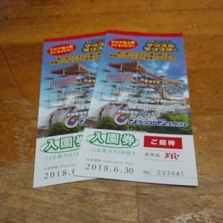 さがみ湖リゾートプレジャーフォレスト入園券二枚¥2000