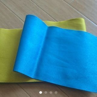 ゆかた帯(黄色、水色)