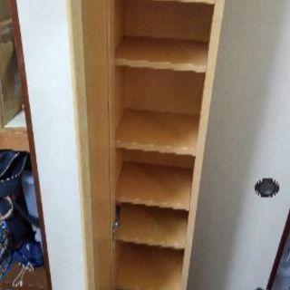 鏡つき本棚
