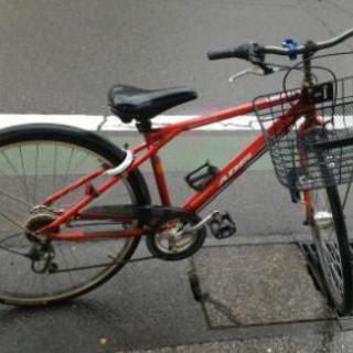 スポーツタイプ 自転車 6段切り替え 鍵前後あり