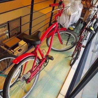コカコーラ ビーチクルーザー 26インチ 自転車 2010年 非...