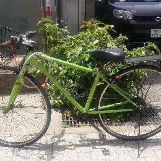 Intertec自転車 グリーンなクロスバイク