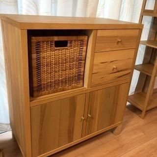 IKEAイケア★トレイビー TRABY★木製キャビネット収納棚