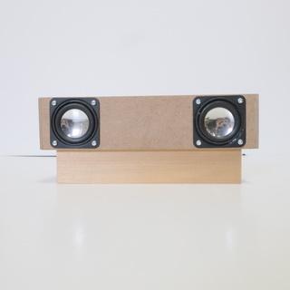 ブルーツースアダプター付D級アンプ内蔵1体型スピーカーボックス、...