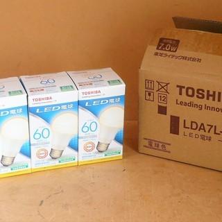 東芝 TOSHIBA LDA7L-H/60W LED電球 6個セッ...