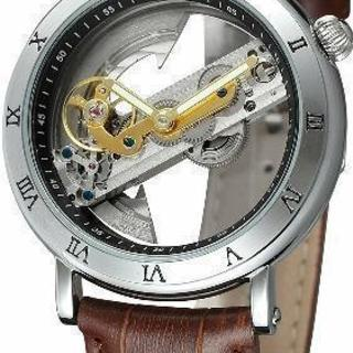 【時計好きにだけお勧めします!!】スケルトン 機械式 腕時計