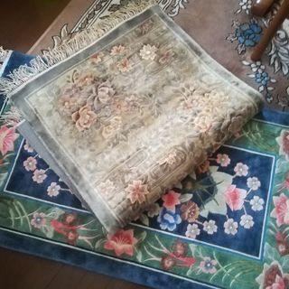 手織シルクカーペットセット