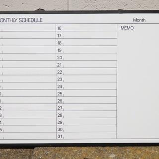 ホワイトボード スケジュール表