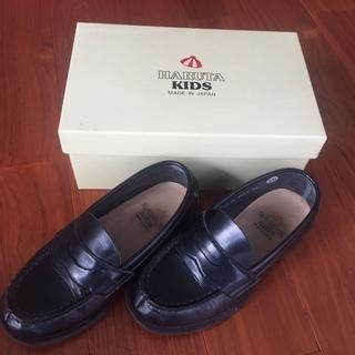 【純日本製】子供用 黒革靴 18cm ハルタ