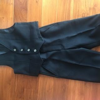 【早い者勝ち】 子供用 ベストスーツセット 黒 110cm