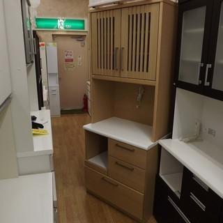 レンジボード 家電ボード キッチン収納 木目 ソフトクロージング ...
