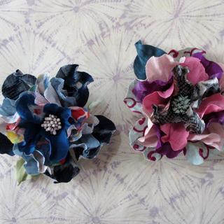アンティーク着物地で布花ブローチを創作しましょう~☆