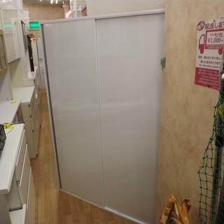 スライド扉付き レンジボード キッチン収納 組み立て 幅122cm...