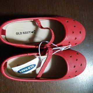 新品✨《値下げ》 赤い靴👞OLD NAVY16センチ
