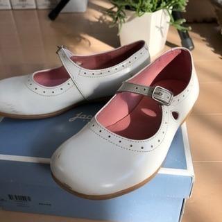値下げ【jacadi】レザーシューズ 子供靴17.5cm