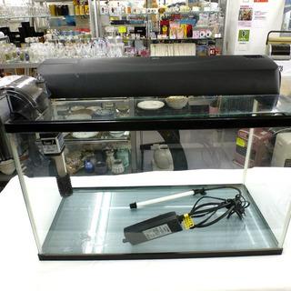 手稲リサイクル 照明付き 水槽 幅約59.5cm ヒーター フィル...