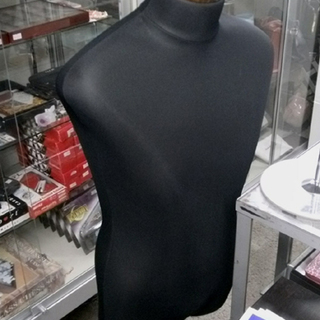 札幌市 トルソー 黒  男性 大人 高さ調整可 ファッション マネキン