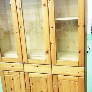 ☆美品☆ 食器棚・キッチン収納 ダイニングボード(節有)