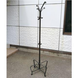 オシャレなポールハンガー 高さ190cm ブラック JM362)【...