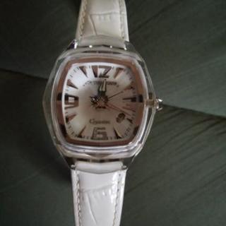 chronotech クリスタル デイト腕時計☆