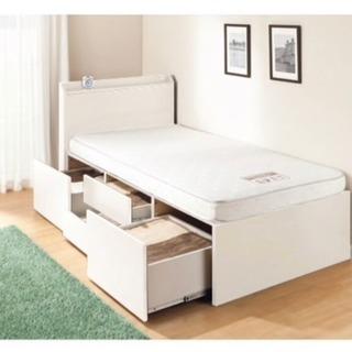 ニトリ 棚付きベッド フルセット シングル白
